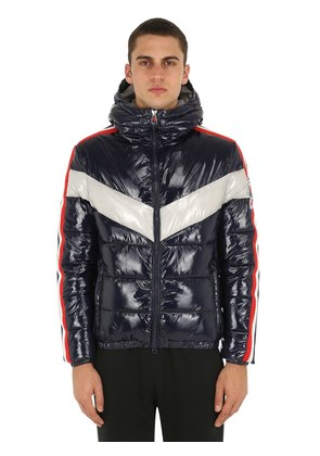 HOODED NYLON PUFFER JACKET