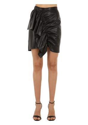 NELA LEATHER SKIRT