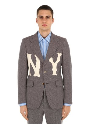 NY PATCHES WOOL JACKET