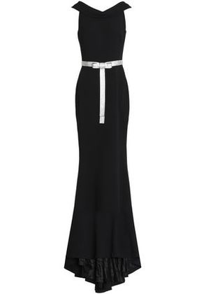 Dolce & Gabbana Woman Crystal-embellished Bow-detailed Crepe Gown Black Size 42