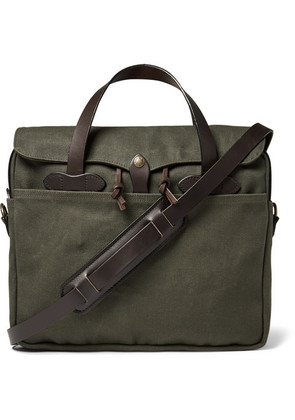 Filson - Original Leather-trimmed Twill Briefcase - Green