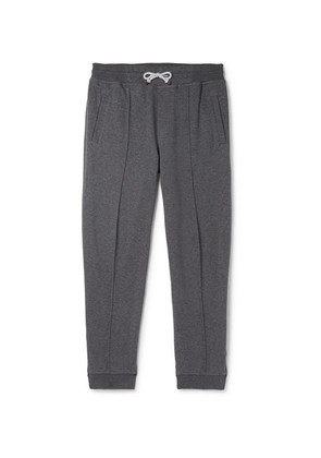 Tapered Cotton-blend Jersey Sweatpants