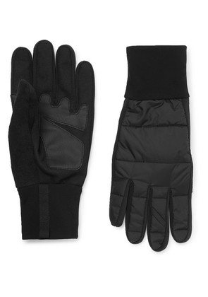 Cafe du Cycliste - Panelled Shell And Faux Leather Gloves - Black