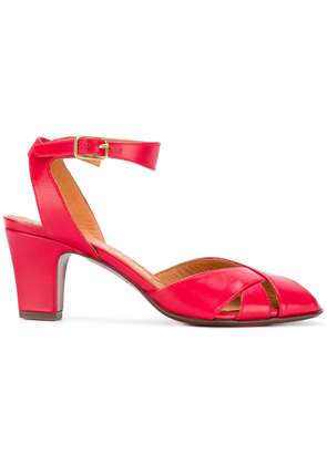 Chie Mihara mid heel open toe sandals - Red