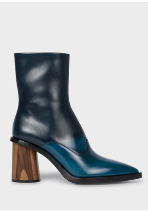 Women's Blue Ombré Leather 'Maura' Boots