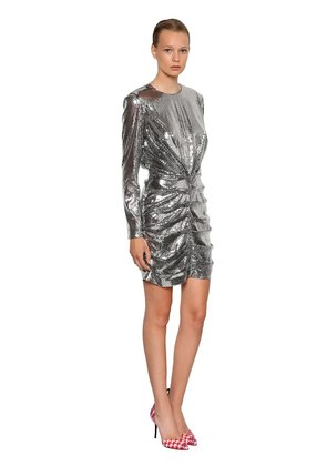 P.M. SEQUINED MINI DRESS