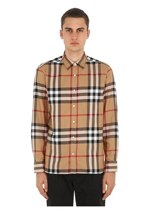 RICHARD CHECKED COTTON FLANNEL SHIRT