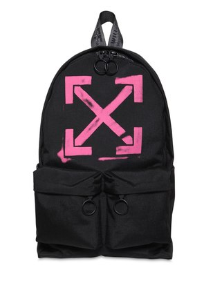 PRINT ARROWS TECH CANVAS BACKPACK