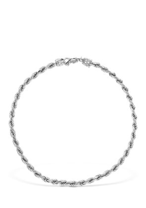 FRENCH ROPE STERLING SILVER NECKLACE