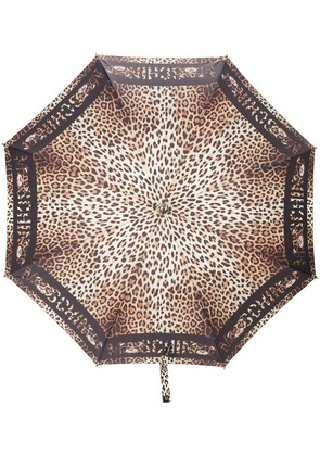 Moschino leopard print umbrella - Black