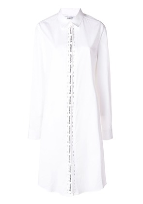 Chalayan logo tape shirt dress - White