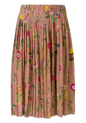 No21 floral pleated skirt - Pink