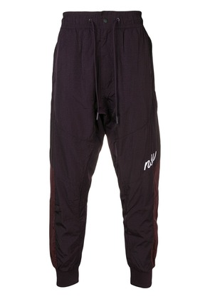 Nike athletic woven track joggers - Purple