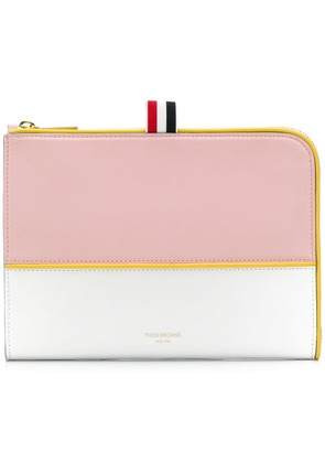 Thom Browne Calfskin Mini Gusset Folio - Blue