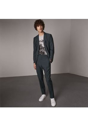 Burberry Soho Fit Wool Mohair Suit, Blue