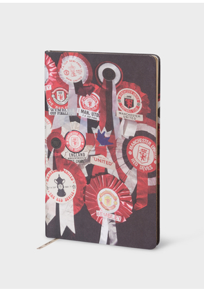 Paul Smith & Manchester United - 'Vintage Rosette' Print Notebook