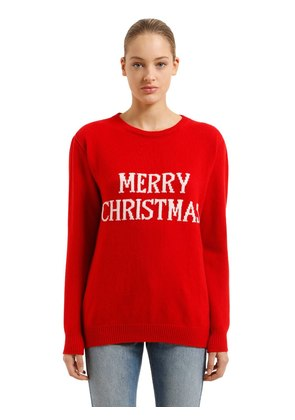 OVER MERRY CHRISTMAS WOOL BLEND SWEATER
