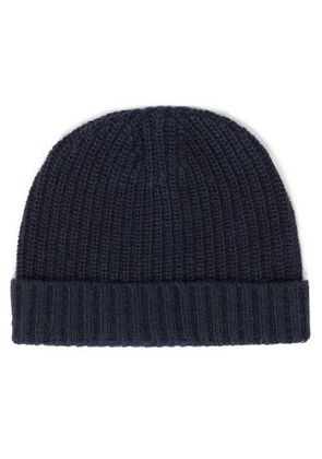 Autumn Cashmere Woman Ribbed-knit Beanie Navy Size ONESIZE