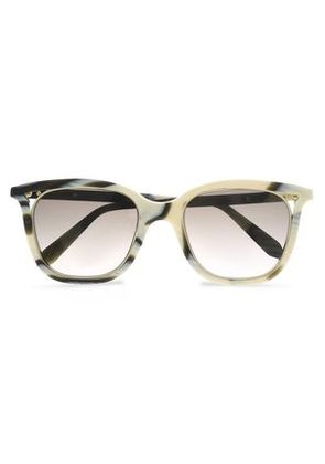 Victoria Beckham Woman D-frame Printed Acetate And Gold-tone Sunglasses Cream Size -