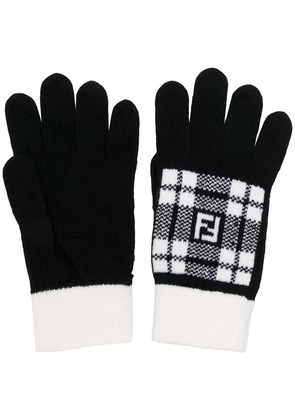 Fendi knitted gloves - Black