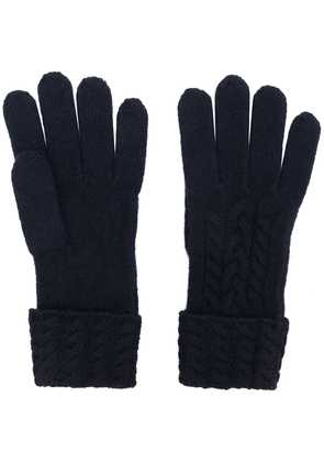 N.Peal cable-knit gloves - Blue