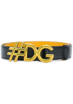 Dolce & Gabbana #DG plaque belt - Black