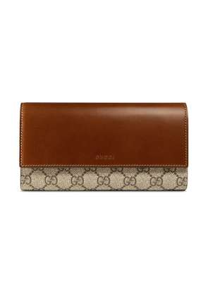 Gucci GG Supreme wallet - Brown