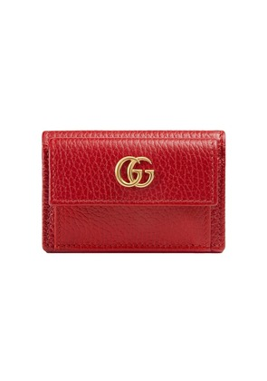 Gucci Gucci Mermont Leather Waller - Red