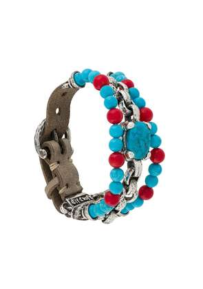 Elf Craft turquoise and coral bracelet - Grey