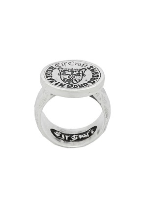 Elf Craft engraved crest ring - Silver