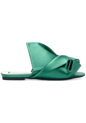 No21 abstract bow sandals - Green