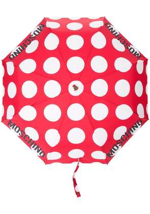 Moschino polka-dot umbrella - Red