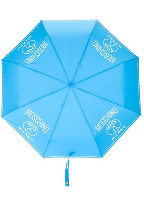 Moschino printed umbrella - Blue