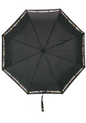 Moschino teddy bear print umbrella - Black