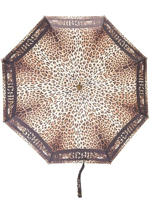 Moschino leopard-print umbrella - Black