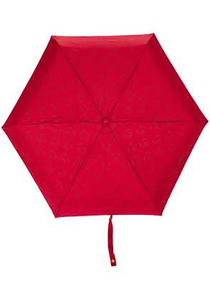 Moschino mini logo and bear print umbrella - Red