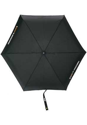 Moschino logo print umbrella - Black