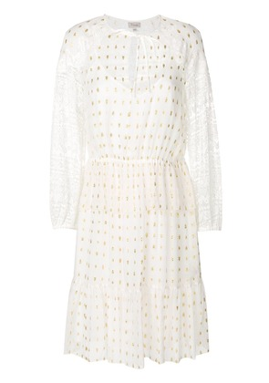 Temperley London lace sleeves dress - White