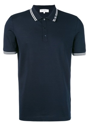 Salvatore Ferragamo stripe-trim polo shirt - Blue