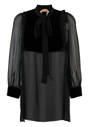 No21 pussybow blouse - Black