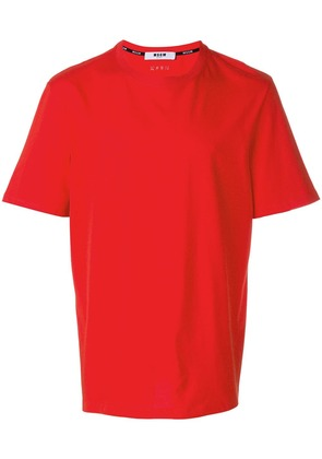 MSGM oversized classic T-shirt - Red