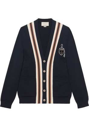 Gucci Wool cardigan with anchor crest - Blue