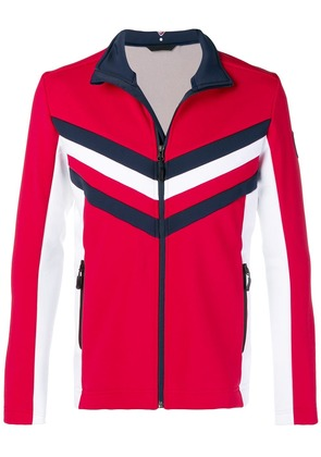 Rossignol colour block zipped jacket - Red