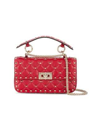 Valentino Red Rockstud Spike Leather Cross Body Bag