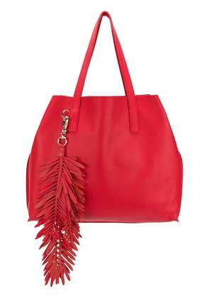 P.A.R.O.S.H. fringed oversized shopping bag - Red