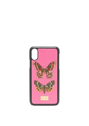 Dolce & Gabbana - Butterfly Print Iphone® X Case - Womens - Pink Multi