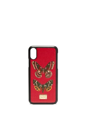 Dolce & Gabbana - Butterfly Print Iphone® Case - Womens - Red Multi