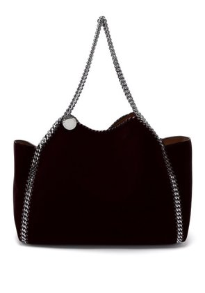 Stella Mccartney - Falabella Small Reversible Velvet Tote Bag - Womens -  Black 8b70cb8f67776
