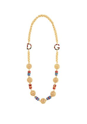 Dolce & Gabbana - Charm Embellished Chain Necklace - Womens - Gold