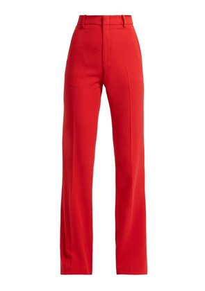 Gucci - Wide Leg Cady Trousers - Womens - Red
